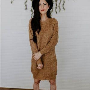 Dresses & Skirts - The Beth Sweater Dress - Camel